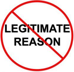 A Legitimate Reason?